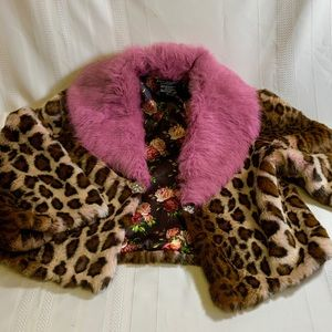 Faux and real fur jacket